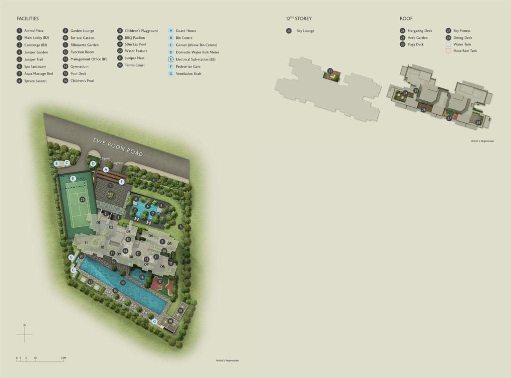 Juniper Hill Site Plan Singapore